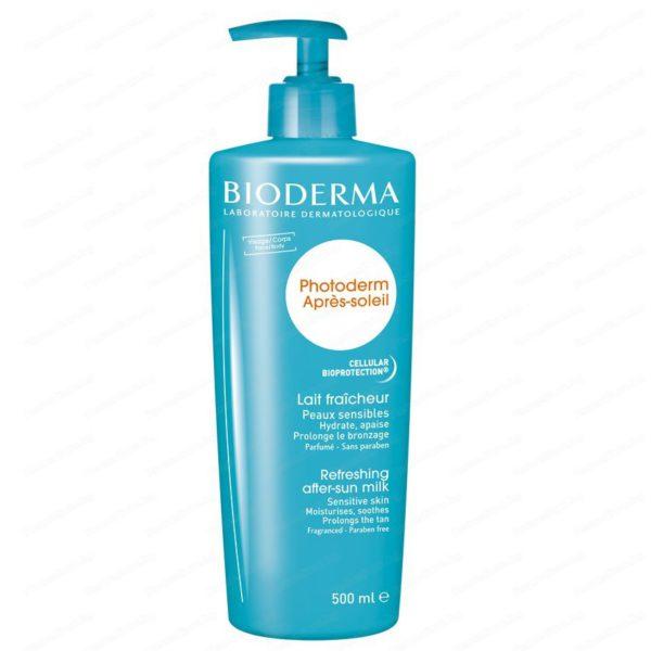 Онлайн аптека Remedium.bg предлага Bioderma Photoderm Освежаващо мляко за след слънце за лице и тяло за чувствителна кожа x500 мл. Безплатна доставка на всички поръчки над 40 лева до 1кг.