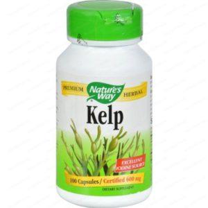 Kelp / Келп (кафяви водорасли) за щитовидната жлеза 660мг х100 капсули – Nature's Way