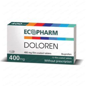 Doloren / Долорен (Ибупрофен) при лека до умерена болка 400мг х12 таблетки – Ecopharm