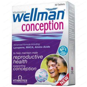Wellman Conception Reproduction & Fertility / Уелмен Зачеване за мъже за подпомагане фертилността и репродуктивната способнсот х30 таблетки – Vitabiotics