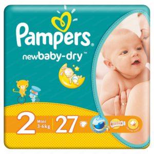 Pampers Active Baby Dry 2 Mini / Памперс Актив Бейби Драй 2 Мини Пелени за бебета и деца 3-6кг х27 броя – Procter & Gamble