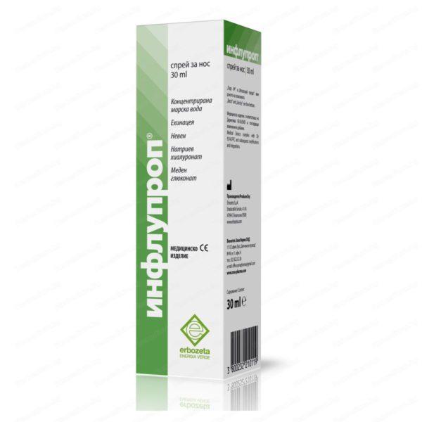 Онлайн аптека Remedium.bg предлага Инфлупроп Спрей за Нос х30 мл. Професионална консултация с магистър-фармацевт и безплатна доставка на всички поръчки над 40 лева до 1кг.