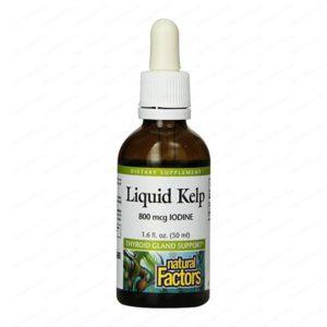 Natural Factors Келп течен екстракт за щитовидната жлеза х50мл