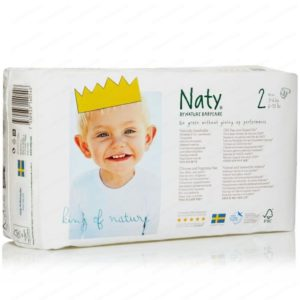 Naty 2 Еко пелени за бебета и деца 3-6кг х34 броя