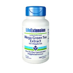 ЛАЙФ ЕКСТЕНШЪН Мега Екстракт от Зелен чай / LIFE EXTENSION Mega Green Tea Extract x 100 капсули