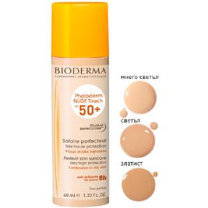 Bioderma Photoderm Nude Touch SPF50+ Слънцезащитен флуид Светъл цвят х40 мл