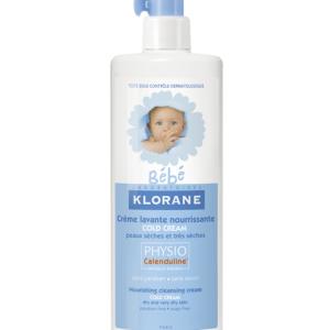 Klorane Bebe Измиващ и подхранващ крем с колд крем за суха кожа x500 мл