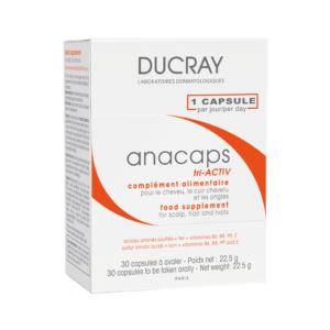 Ducray Anacaps tri-ACTIV хранителна добавка x30 капсули