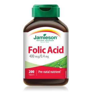 ФОЛИЕВА КИСЕЛИНА / FOLIC ACID 400 мг капсули x 200 – Джеймисън