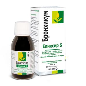 БРОНХИКУМ Еликсир S Сироп 130 гр / BRONCHICUM Elixir S Syrup 130 g х100 мл – Sanofi