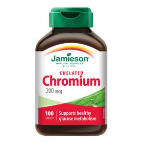 ХРОМ / CHROME таблетки 200 мкг х 100 бр. – Jamieson