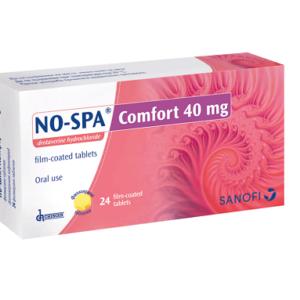 НО-ШПА КОМФОРТ / NO-SPA COMFORT таблетки 40 мг x 24 бр. – Санофи