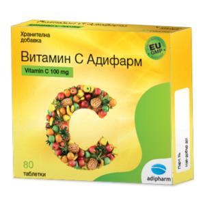 Витамин С / Vitamin C таблетки 100 мг х 80 – Adipharm
