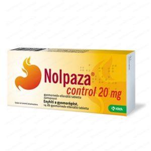 KRKA Нолпаза Контрол за намаляване киселинността в стомаха 20 мг х14 таблетки